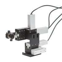 4-axis manipulator - 50 mm travel axial stage