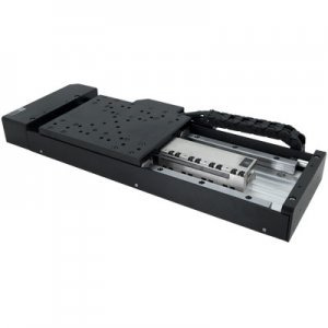 Linear motor stages with built-in control