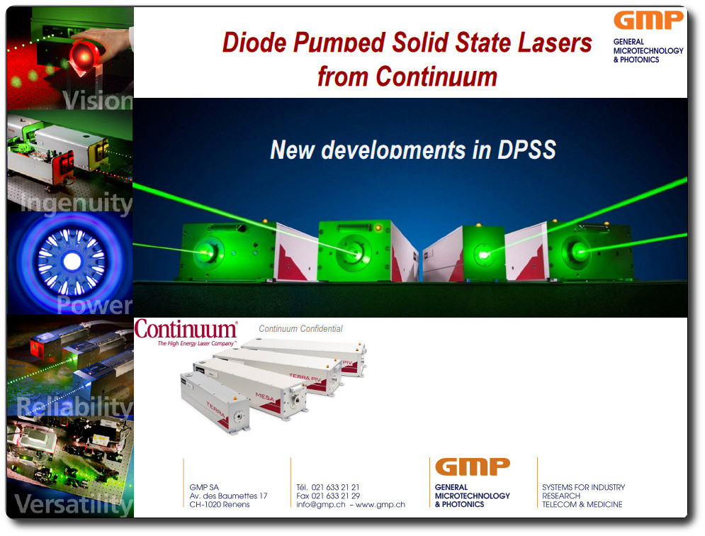 Cw Solid State Gmp Sa Photonics And Micropositioning